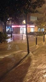 Calles inundadas en zona noroeste